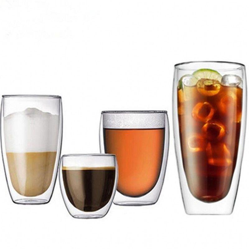 Double Wall Glass Coffee Cup Tea Milk Glass Mug Cups Egg