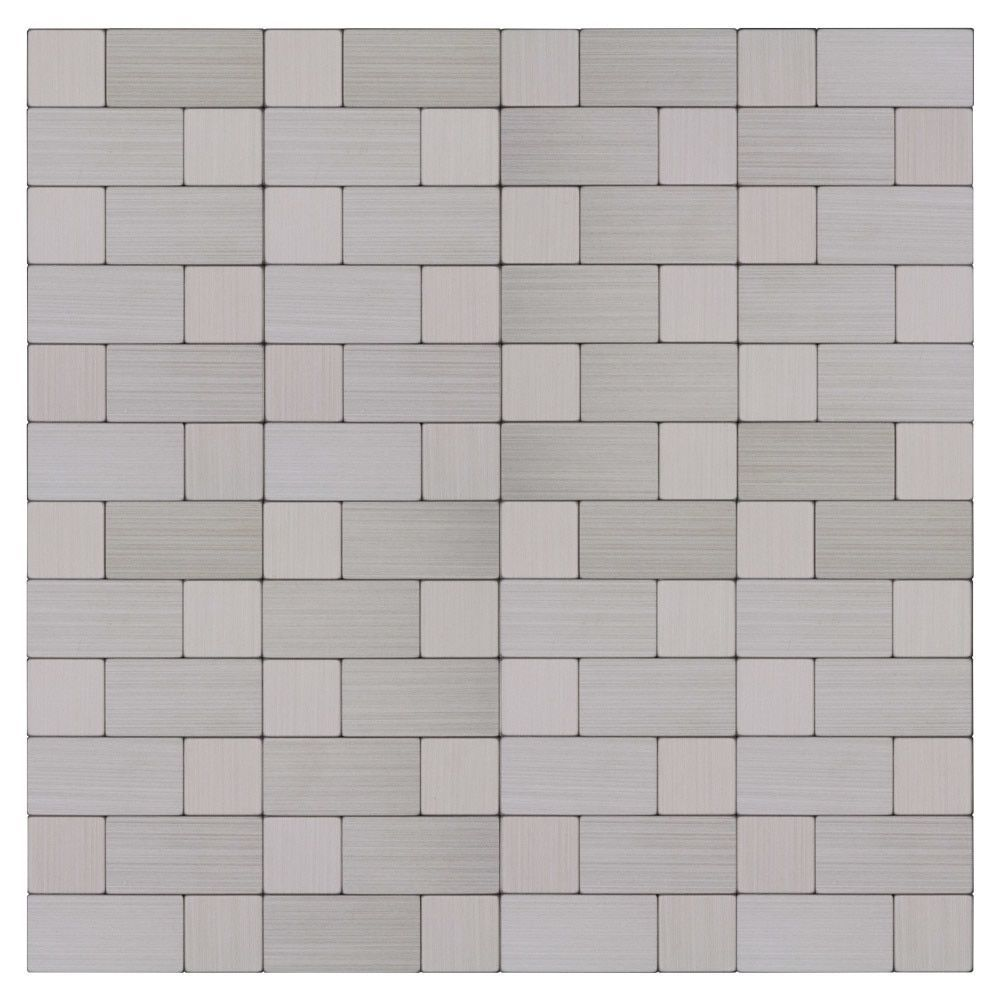 Peel And Stick Backsplash Stainless Steel Staggered For Kitchen Backsplash Stainless Backsplash Metal Mosaic Tiles Stick On Tiles