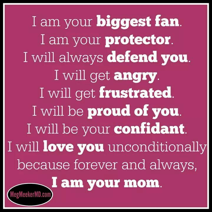 I Am Your Mom And I Will Love You Unconditionally Always And