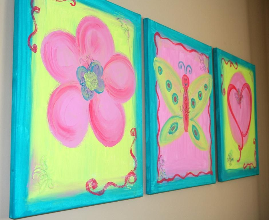 Creative Painting Canvas Ideas For Beginners: Three Canvas