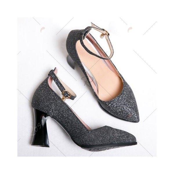 0e899d9b775 Black Ankle Strap Strange Style Pumps (2