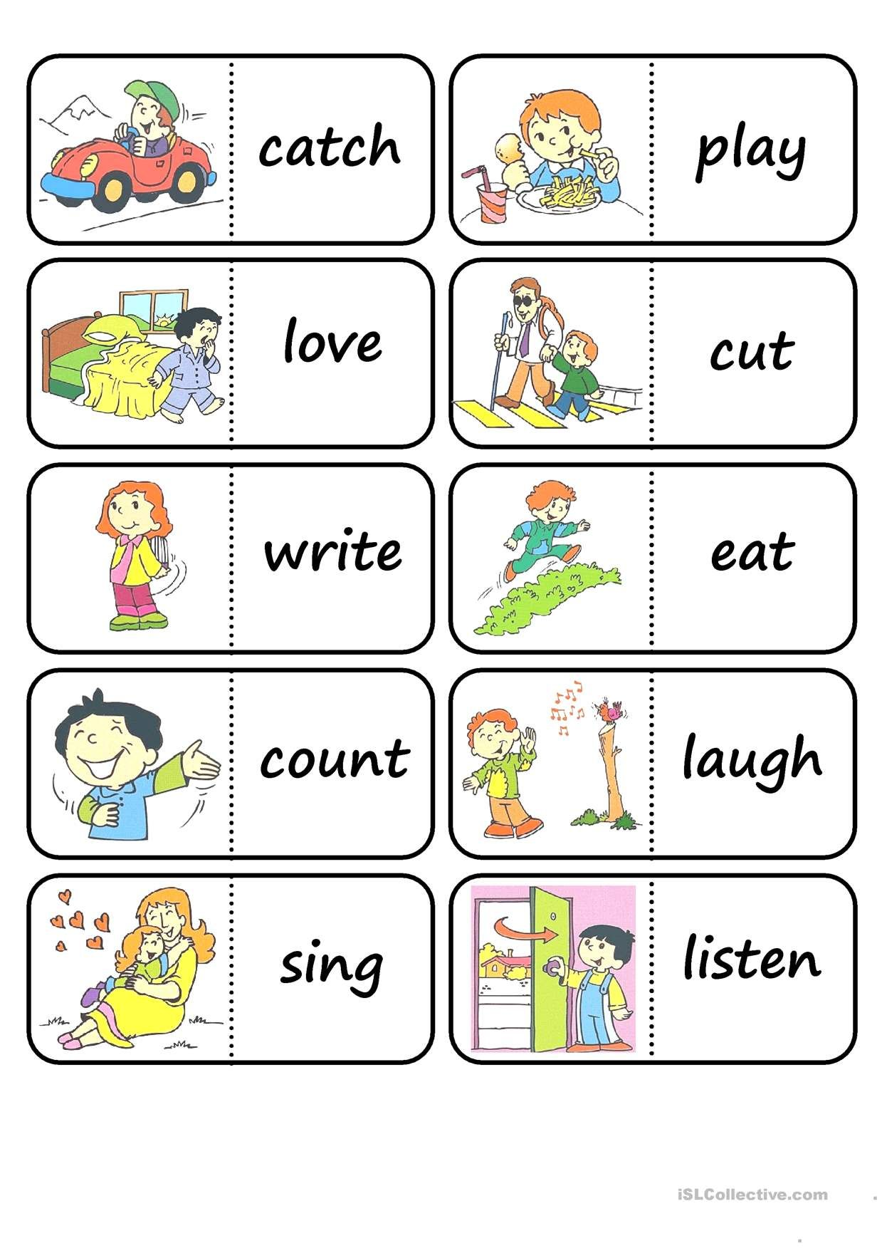 Oneclick print document Action words, Kids english