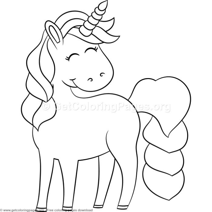 4 Cute Cartoon Unicorn Coloring Pages | Unicorn coloring ...