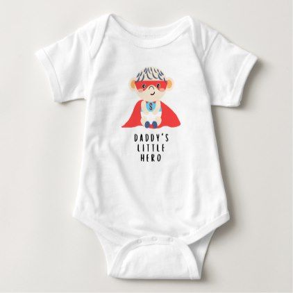 Daddy's Little Hero (Boy) Baby Bodysuit - baby gifts child new born gift idea diy cyo special unique design