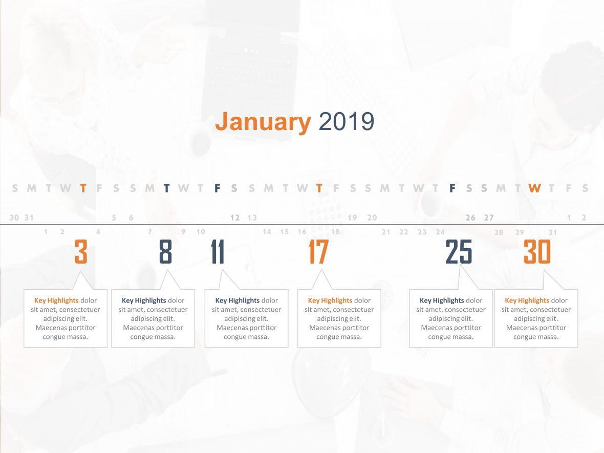Calendar Powerpoint Template 6 Event Planning Timeline