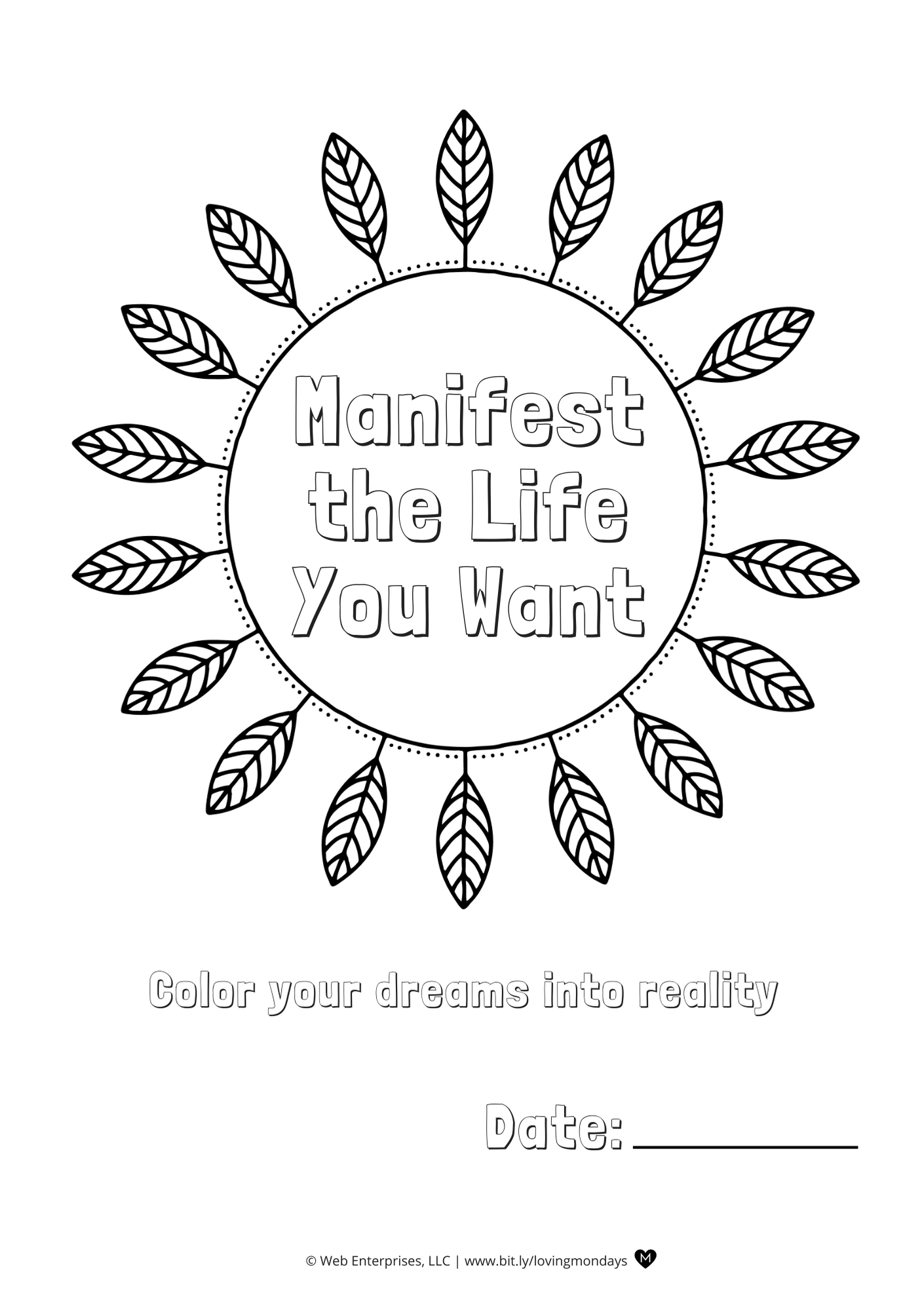 Printable Law Of Attraction Planner With Printable