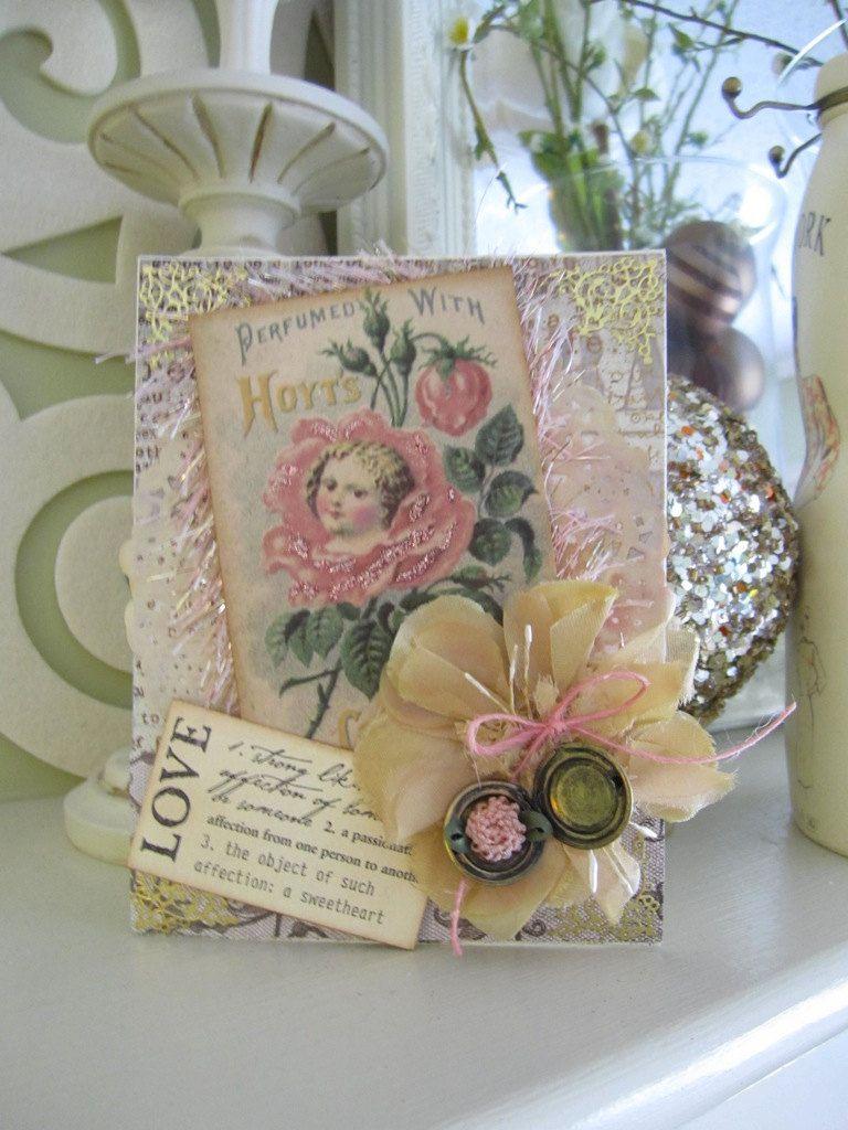 Vintage style scrapbook ideas - Birthday Card Handmade Birthday Vintage Style Birthday Polka Dot Card