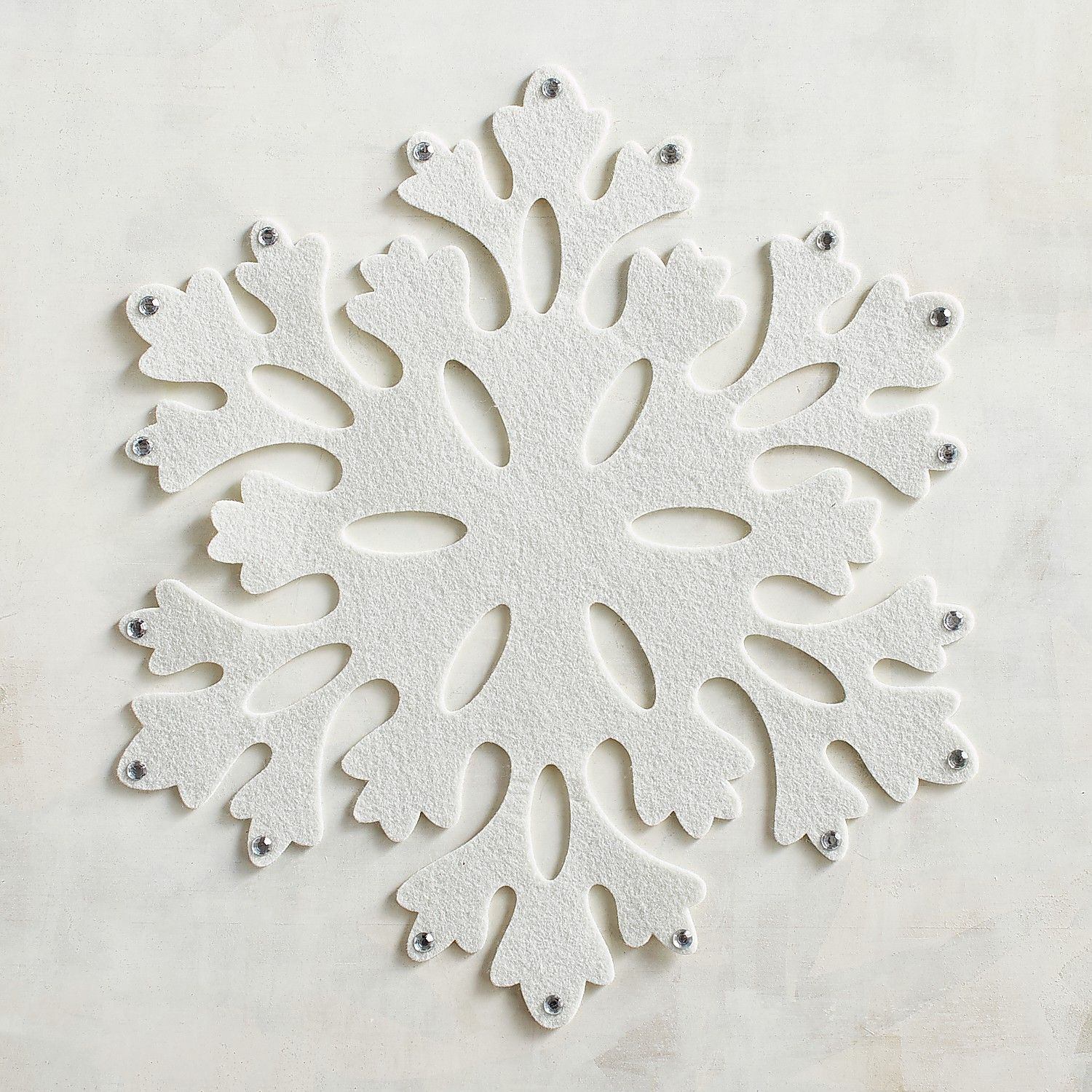 White Felt Snowflake Placemat Snowflake Placemat Christmas Placemats Christmas Table Cloth