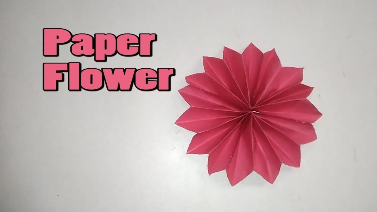 How To Make A Paper Flower Easy Paper Crafts Flower Paper And Origami