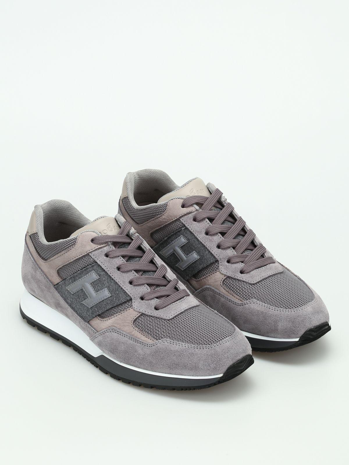 Hogan Sneaker Basse H321 In Dark Grey Modesens