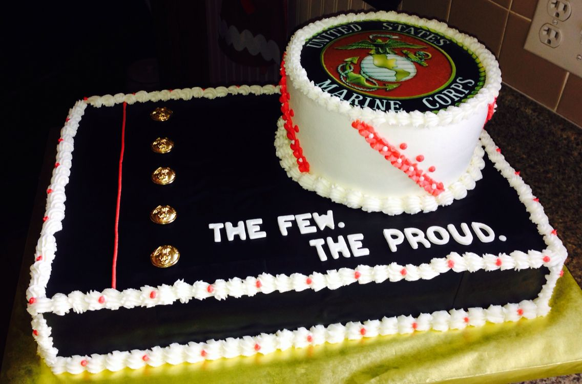 I really enjoyed making this Marine Corp cake. Visit Gone