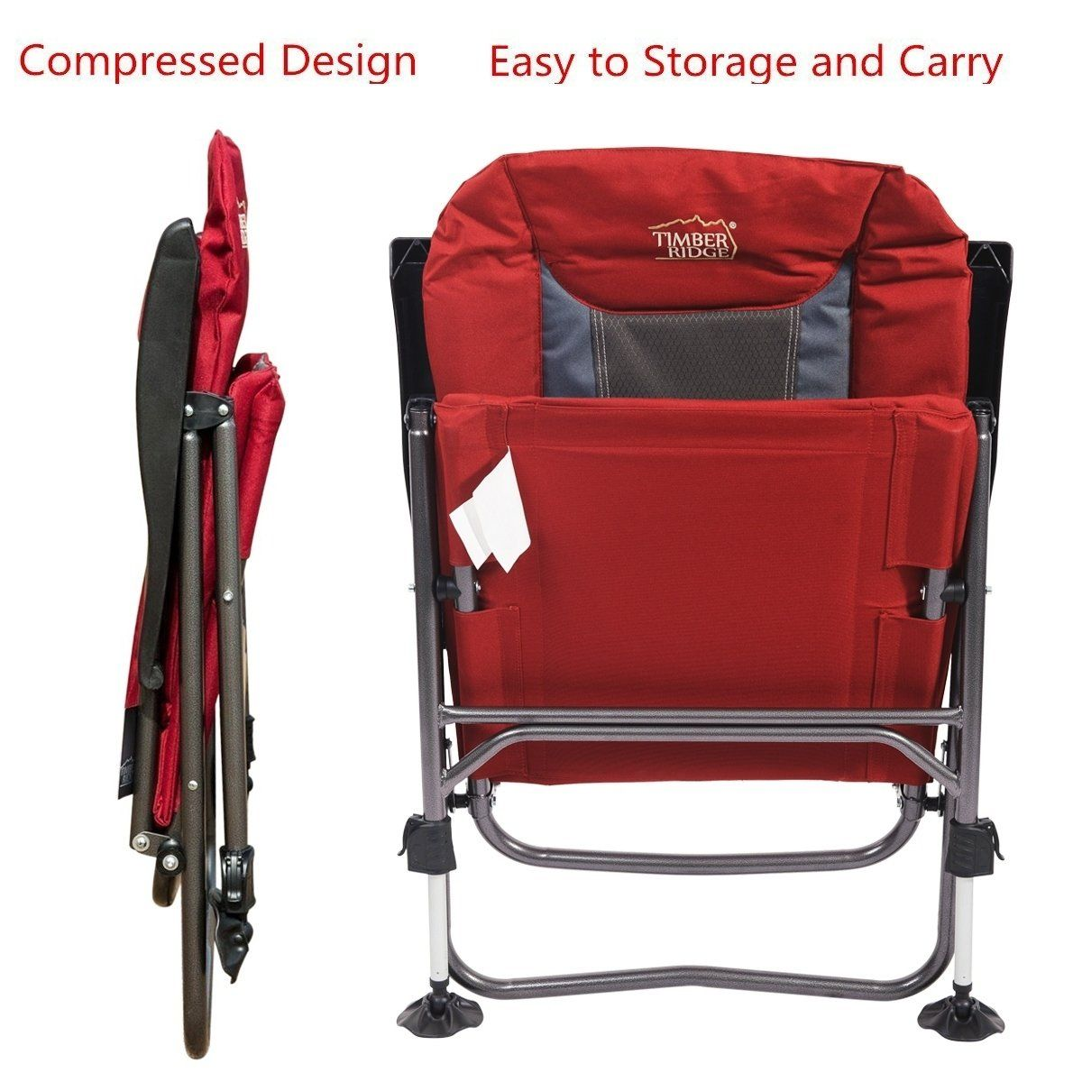 Camping Chair Folding Heavy Duty with Adjustable Reclining