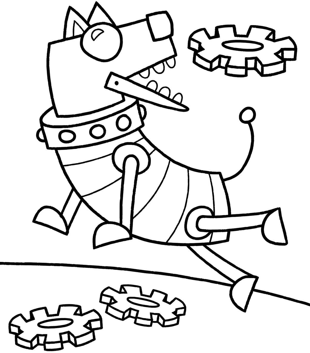 Robot Coloring Pages Printable PARTAY Dog coloring