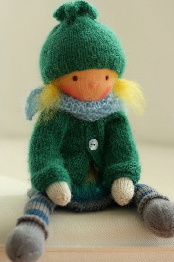 Waldorf knitted doll Hanna 13 by Peperuda dolls by ...
