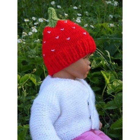 4bddd81e5fb Bonnet fraise pour bébé Bonnet bébé de la naissance à 3 mois environ Taille  6 mois