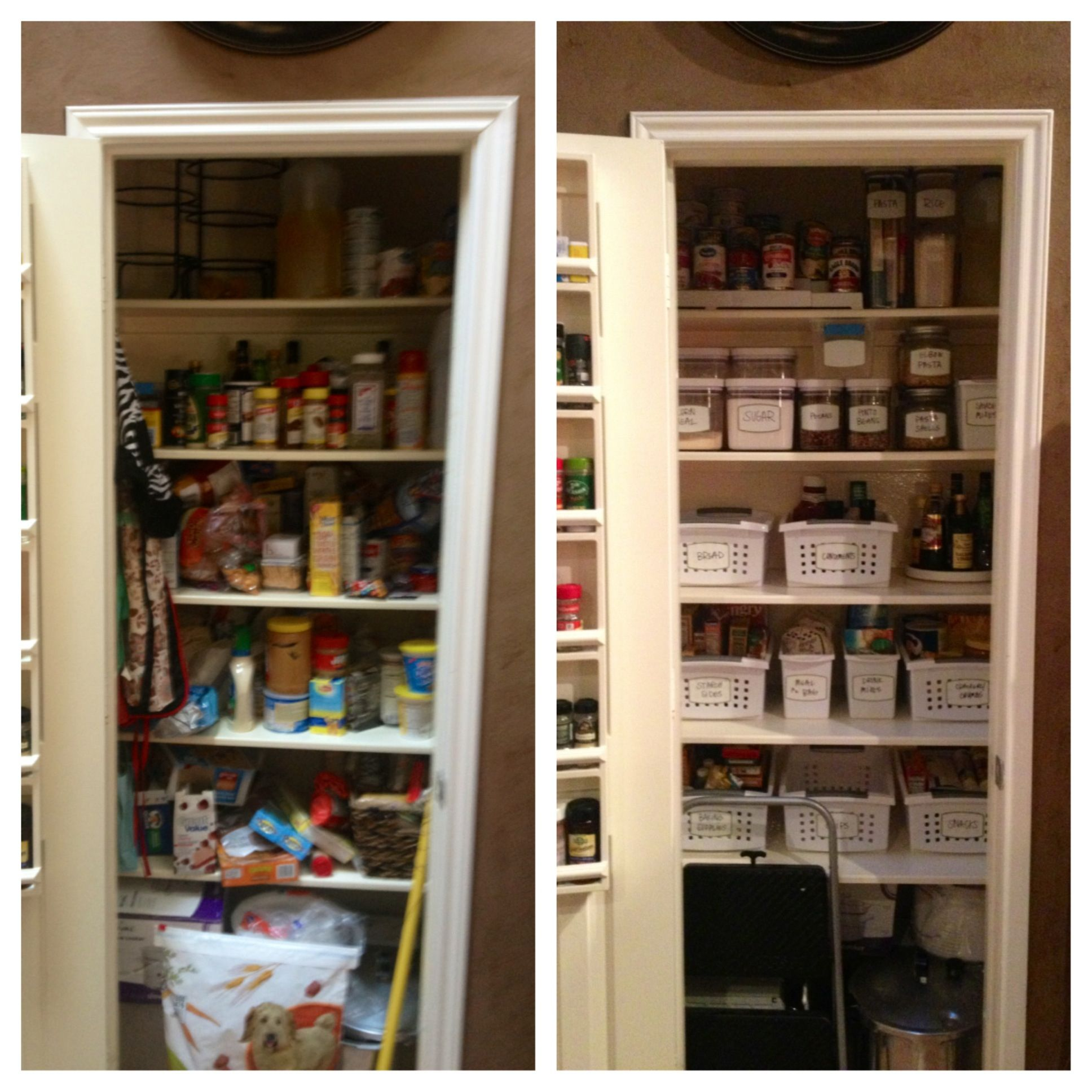 before after pantry organization pantry organization pantry home kitchens on kitchen organization before and after id=15700