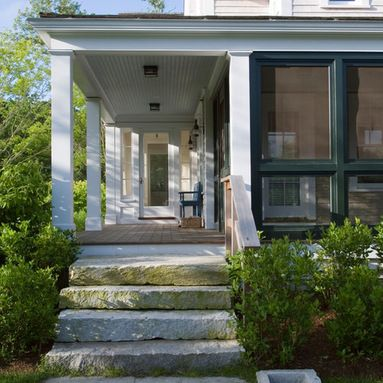 Stone Slab Steps Porch Design Ideas Pictures Remodel And Decor