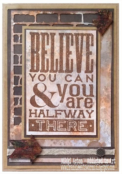 Tim Holtz Motivation 3 Stamp Set