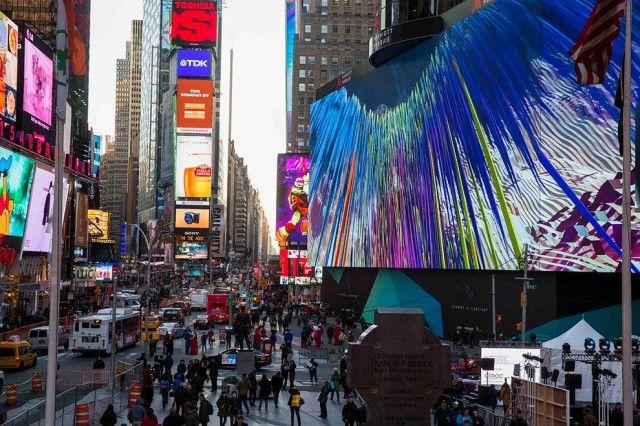 Maior Quadro de Avisos de Publicidade no Mundo em Times Square   Stefany