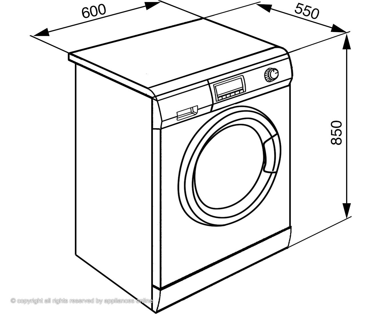 Washing Machines And Dryers Drawing Design Inspiration 2
