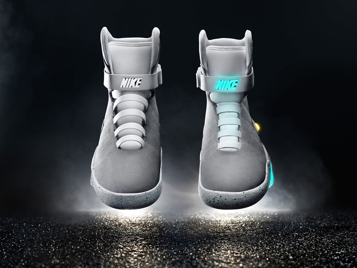 Michael J. Fox Debuts the Self-Lacing Nike MAG Back to the Future Shoes dde5b85a5