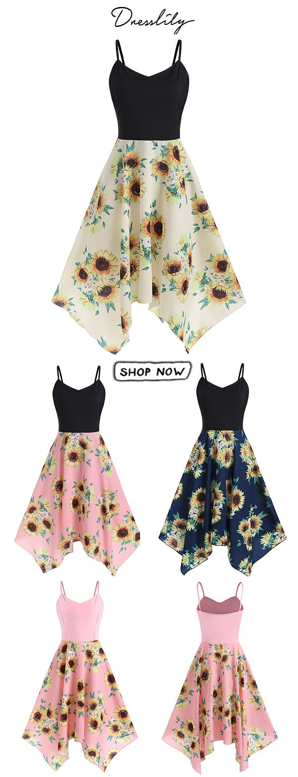 05e78dc0829 17% off for this plus size sunflower sling dress.  dresslily  plussize