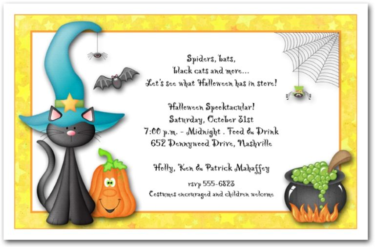 Childrens Halloween Party Invitation Wording  Mydrlynx