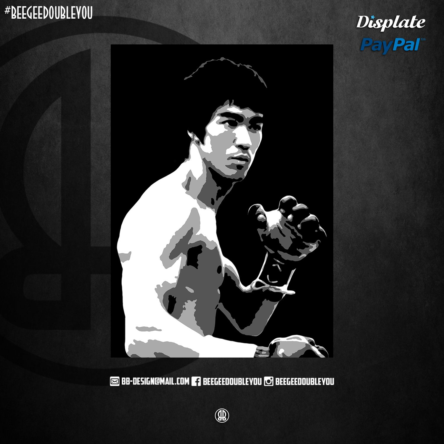 Bruce Lee Pop Art Poster Print Metal Posters Fun Sports Bruce Lee Art Sport Motivation