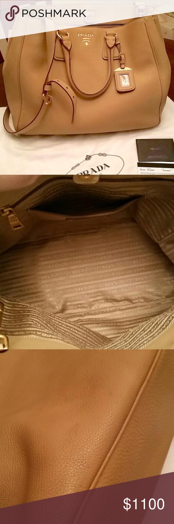 0ca76ff28d932 Prada Vitello Daino tote crossbody bag GORGEOUS Prada bag! Scrumptious  camel color. Awesome condition