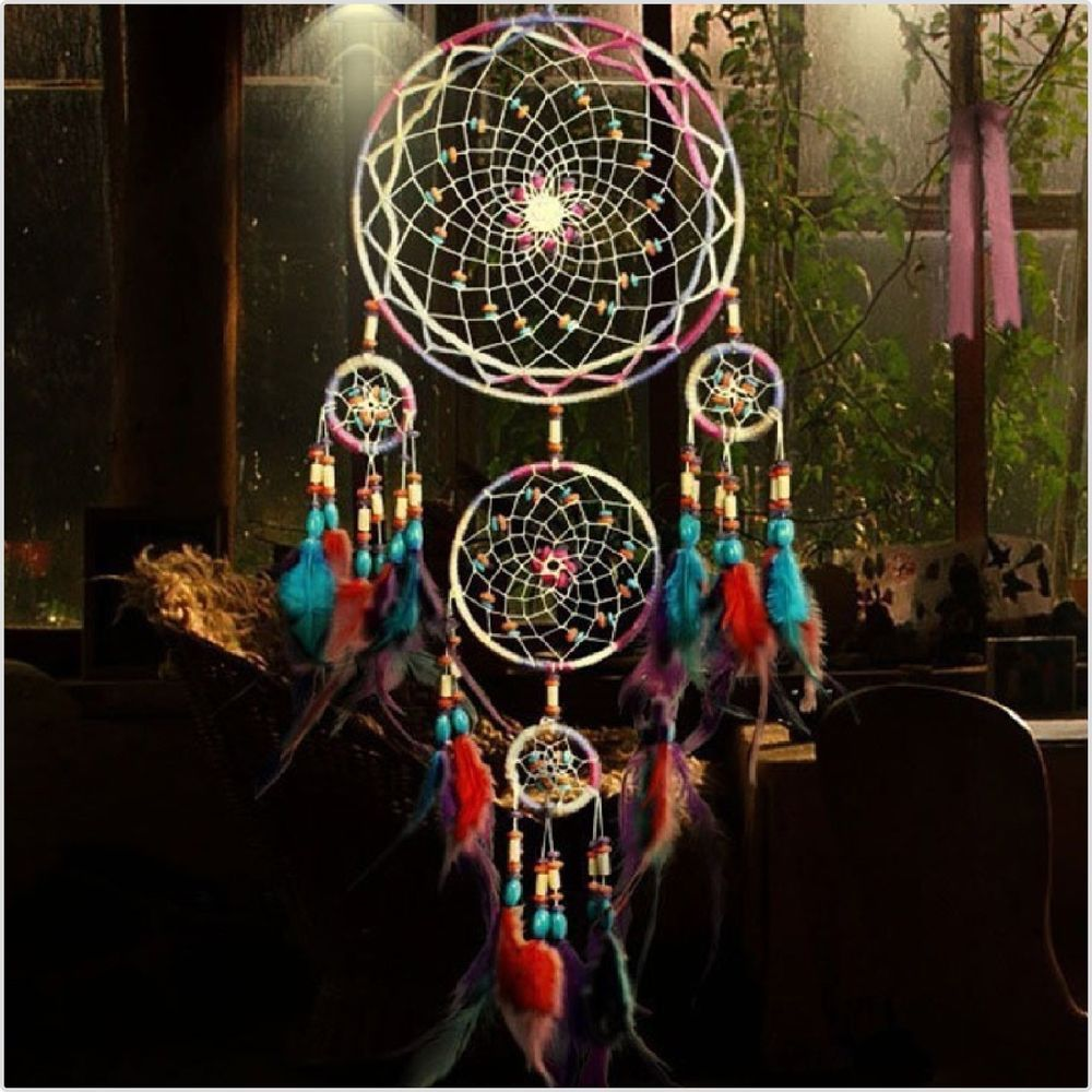 Mikolot Colorful Handmade Big Dream Catcher Wall Hangings Living Room Decor Gift