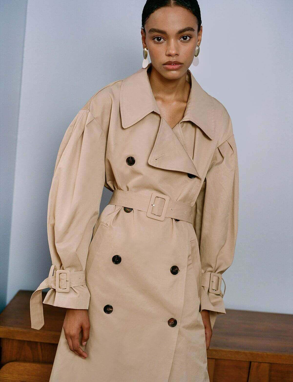 d20bbdc63 Tan Oversize Belted Trench Coat in 2019 | Style | Trench coat outfit ...