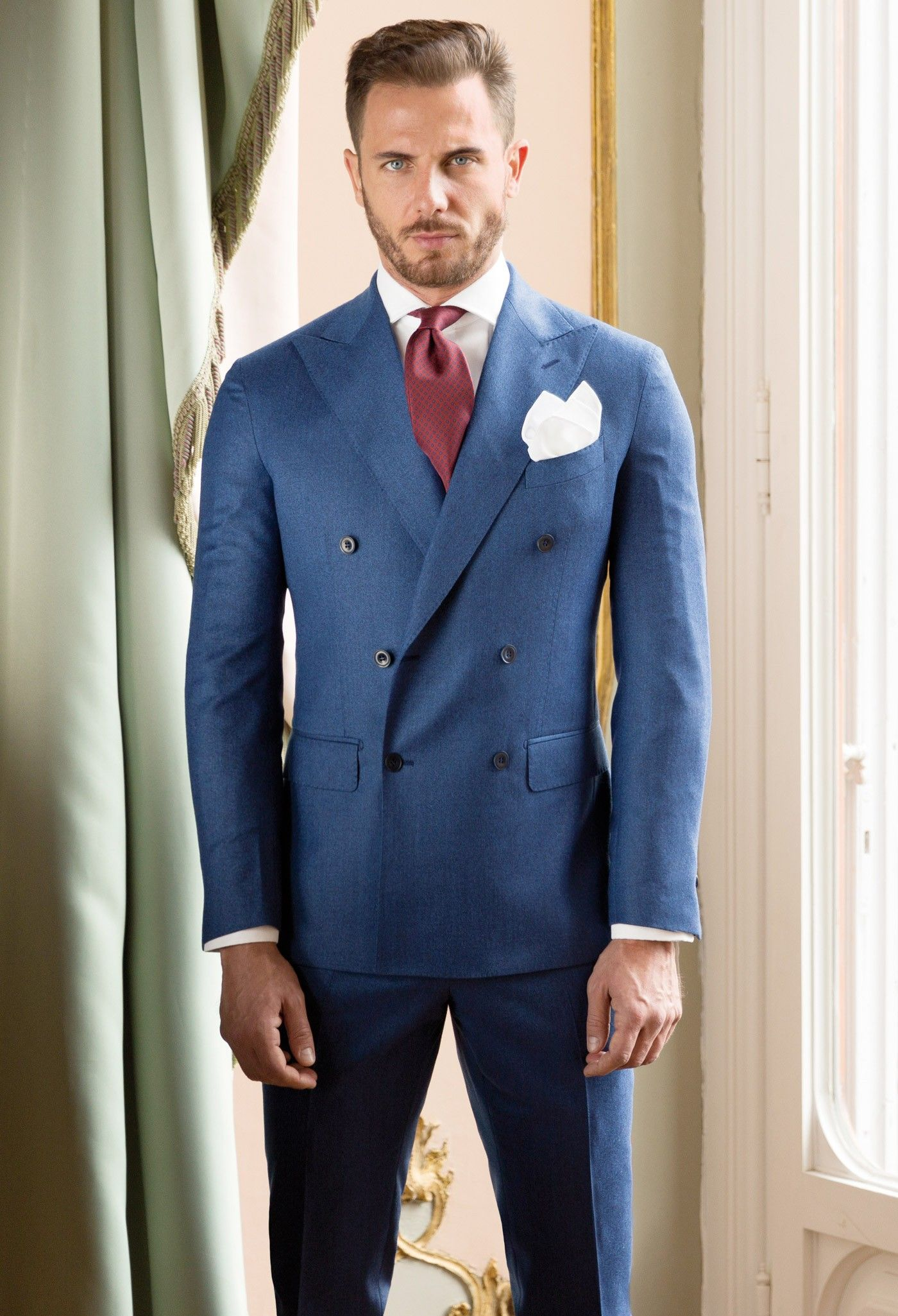 Man's Suit double-breasted Flannel - Blue | THINGS TO WEAR ...