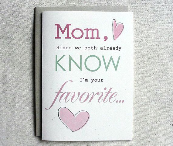 Mother Birthday Card Funny Mom Since We Both Already Know Im Your