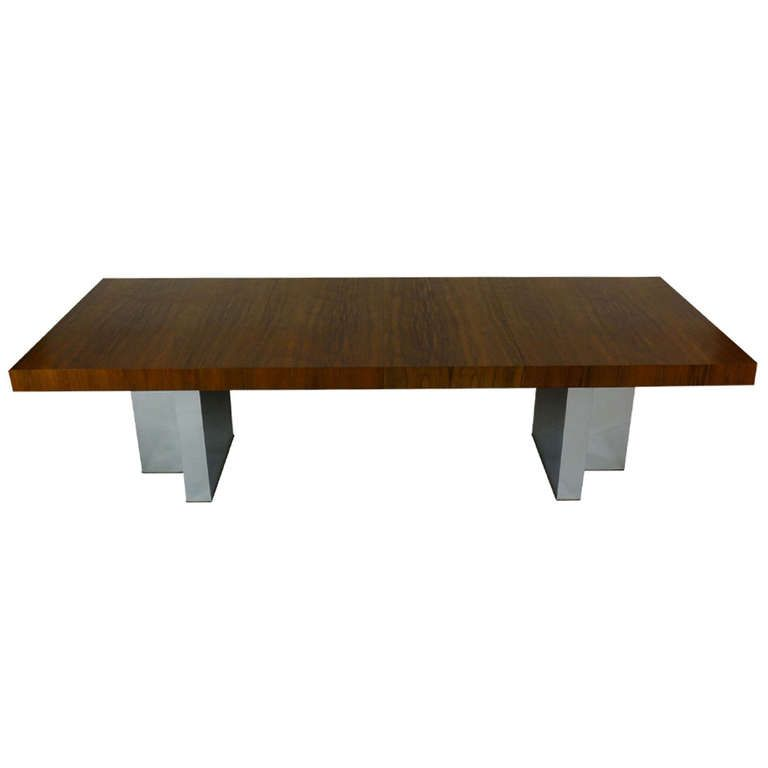 Milo Baughman Rosewood Dining Table From A Unique Collection Of