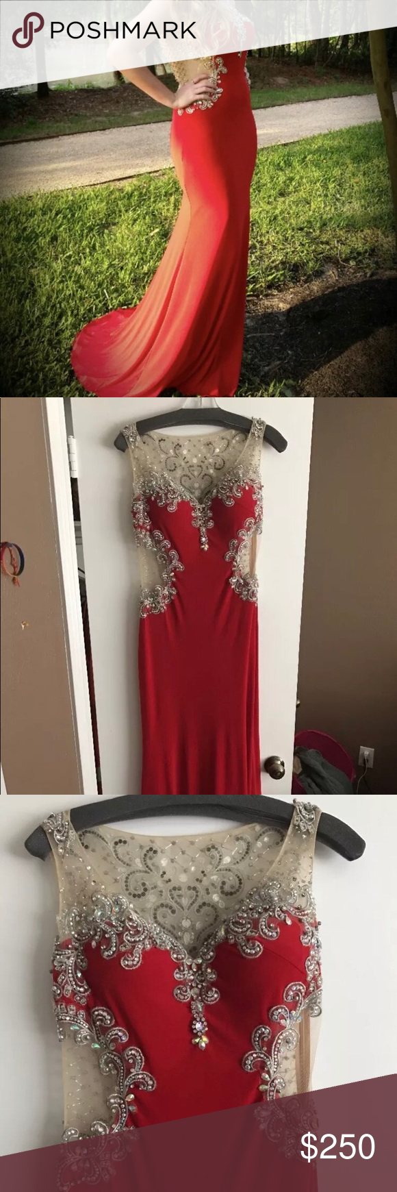 Red prom dressevening gown size girls wear prom and dress prom