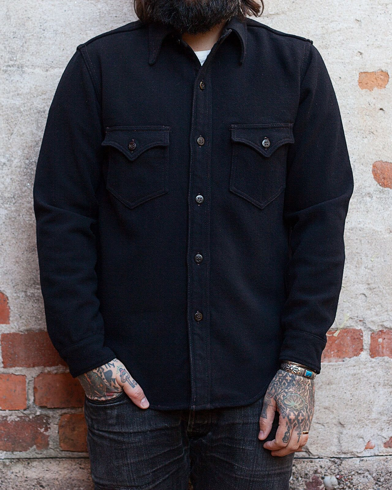 Freewheelers Cpo Shirt Heavy Wool Made In Japan Usn Clothes