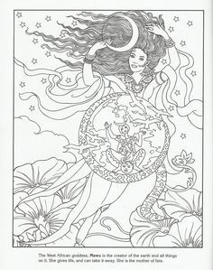 Free Adult Wiccan Coloring Pages
