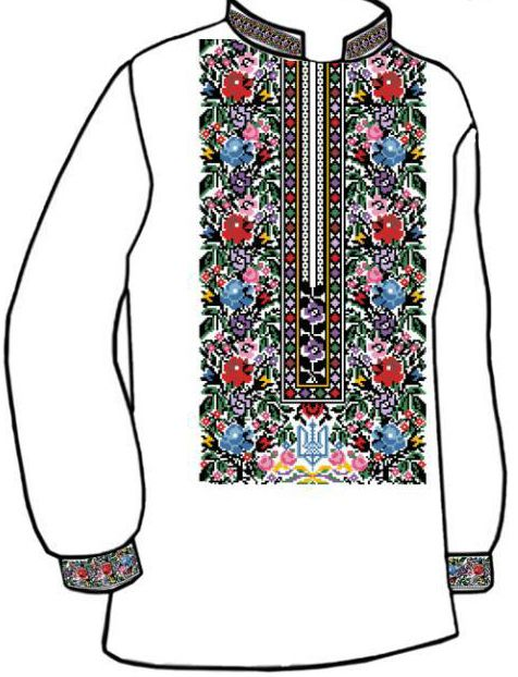 Заготовка для вишивки чоловічої сорочки (СЧ-47) 018d9a324ff43