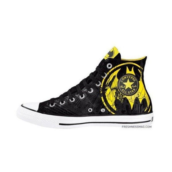 batman converse | Tumblr ❤ liked on Polyvore featuring shoes, batman and sneakers