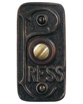 Home and Garden - Waterglass Studios Art Nouveau Brass Door Bell Style 1612  sc 1 st  Pinterest & Home and Garden - Waterglass Studios Art Nouveau Brass Door Bell ... pezcame.com