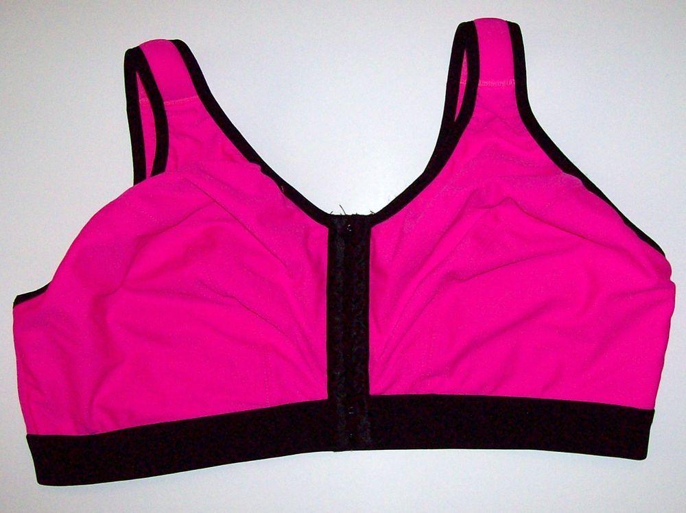 Cacique 44DDD Sports Lane Bryant Pink Black Front Close