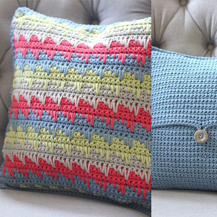 Crochet Reversible Spike Stitch Pillow | Pinterest | Almohada para ...
