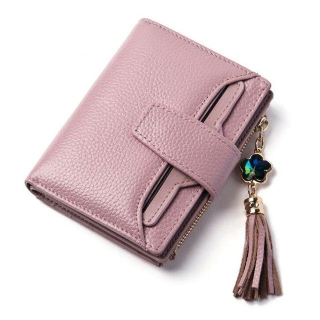 Top Genuine Leather Blocking Mini ID Credit Cards Purse