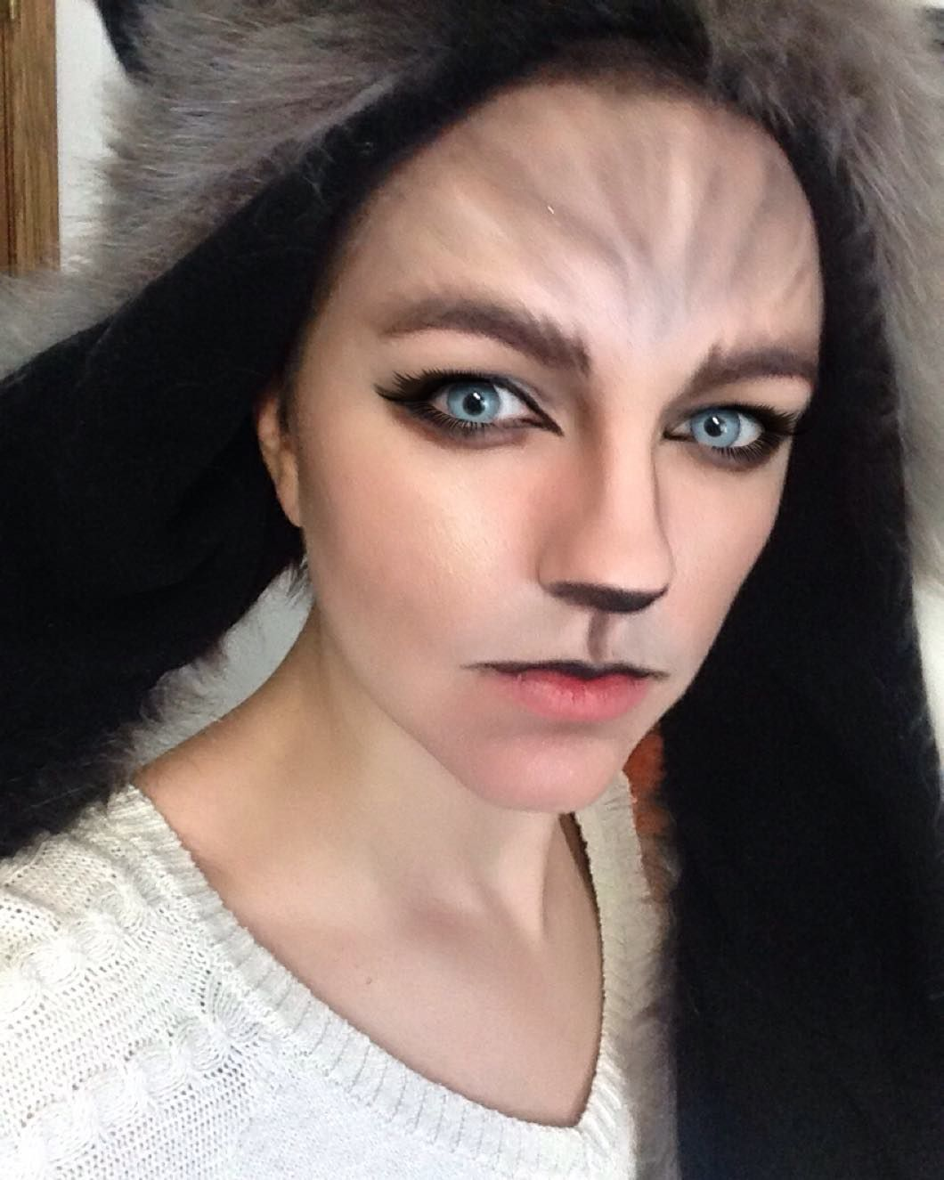 Wolf/werewolf makeup #halloween #halloweeniscoming #mua #makeup ...