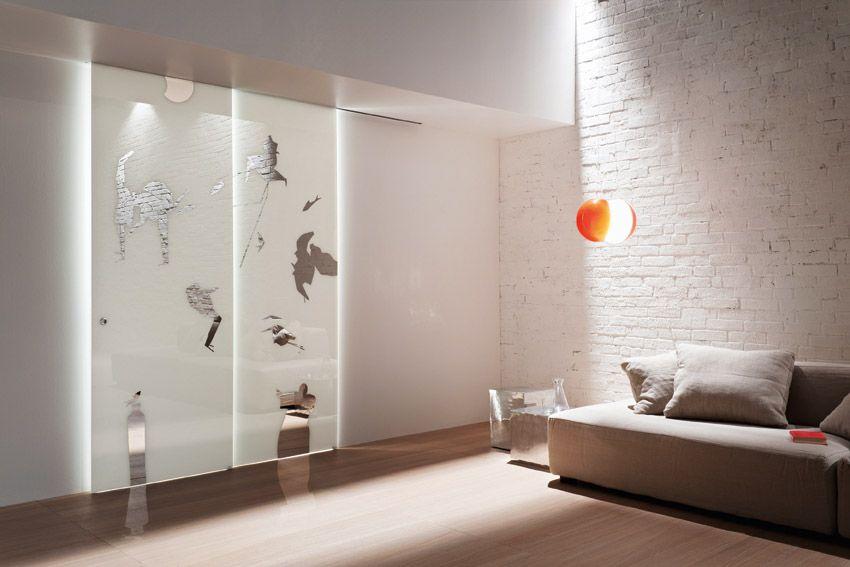 Porta scorrevole esterno muro inside linea vitra vetro - Porta scorrevole esterna muro ...