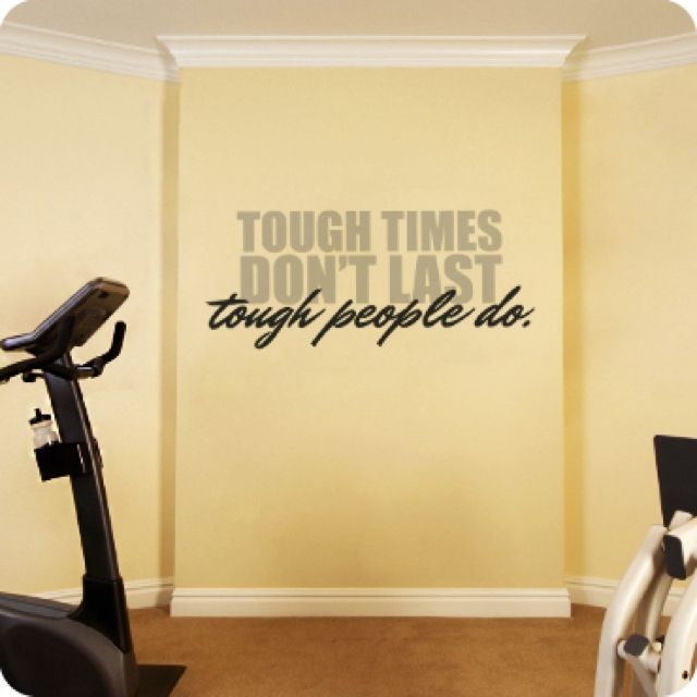 Tough times don't last. Tough people do. #Inspiration