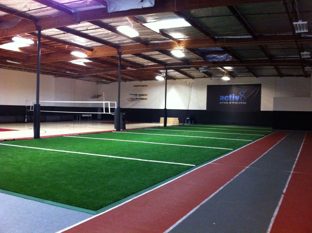 Our Install Of The Week Comes From Activ8 Athleticism Easyturf Was The Perfect Option For Completing The Sports Training Facility Indoor Track Indoor Sports