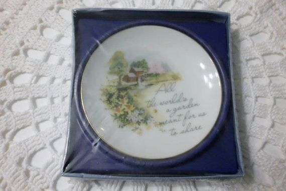 Collector's Plate 4 inch Lasting by LovedOnceMoreVintage on Etsy