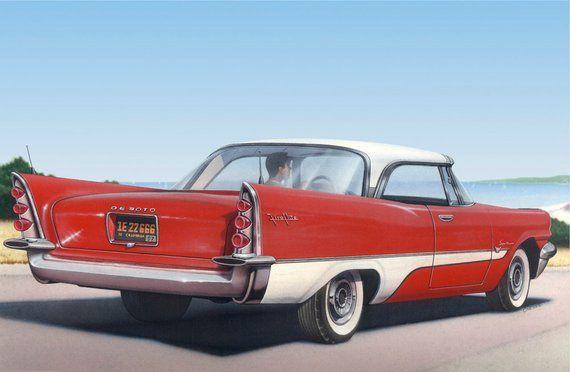 1957 De Soto Fireflight Print, Antique Automobile, classic car art, vintage auto, nostalgic, American, 1950s Americana