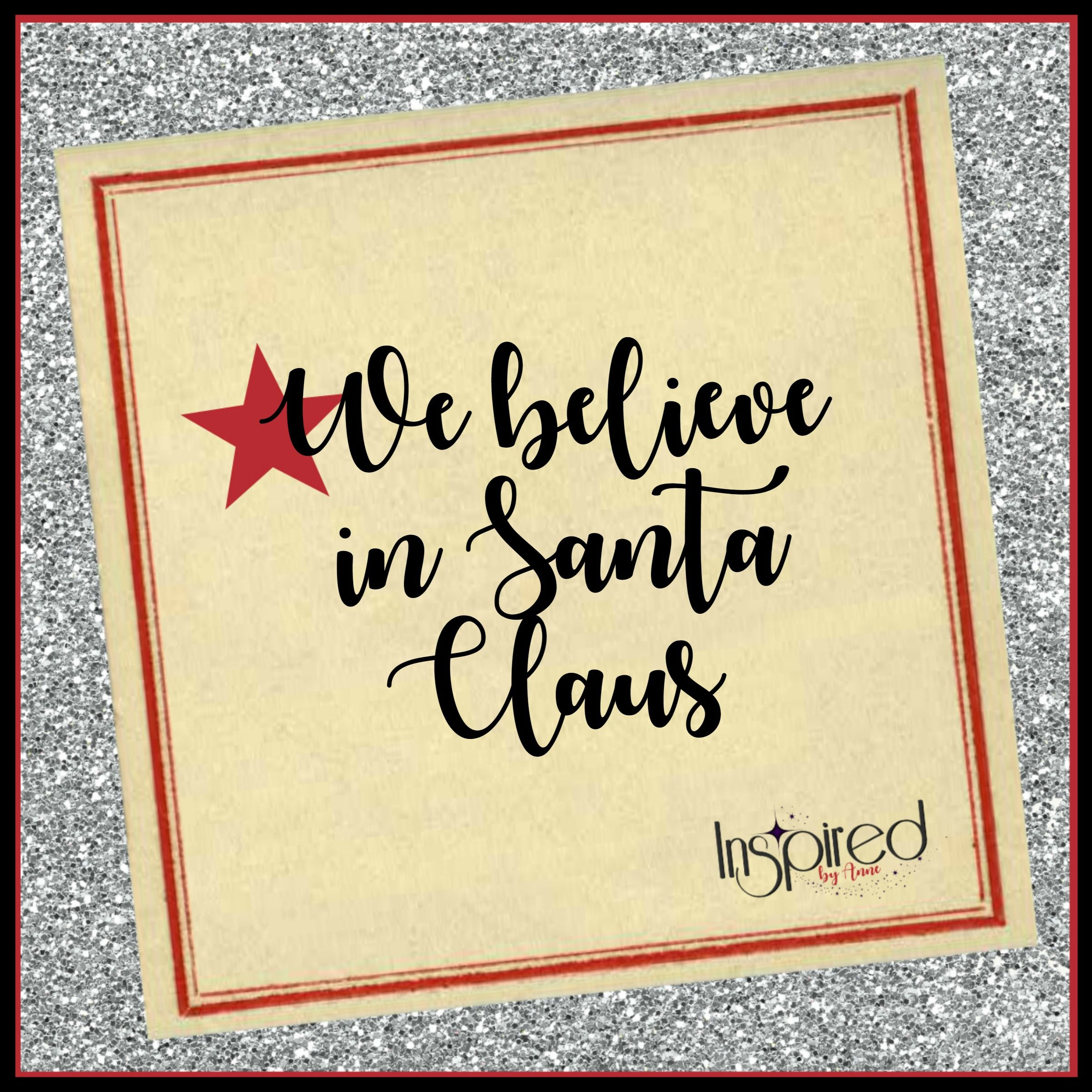 Cover page for We Believe in Santa Claus board